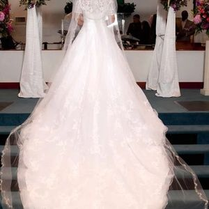 Dresses & Skirts - One of a kind wedding dress and veil